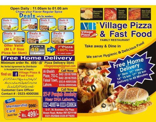 Village Pizza Faisal Town Deals