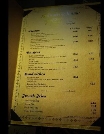 gujis steakhouse menu photos