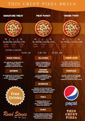 roadstove menu pizza