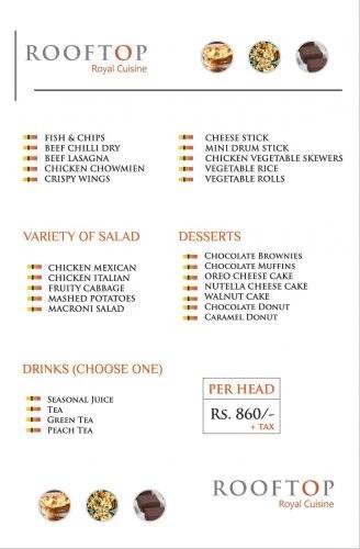 Rooftop Royal Cuisine Faisalabad Hi Tea
