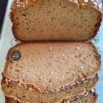 Pão de aveia e mel sem glúten