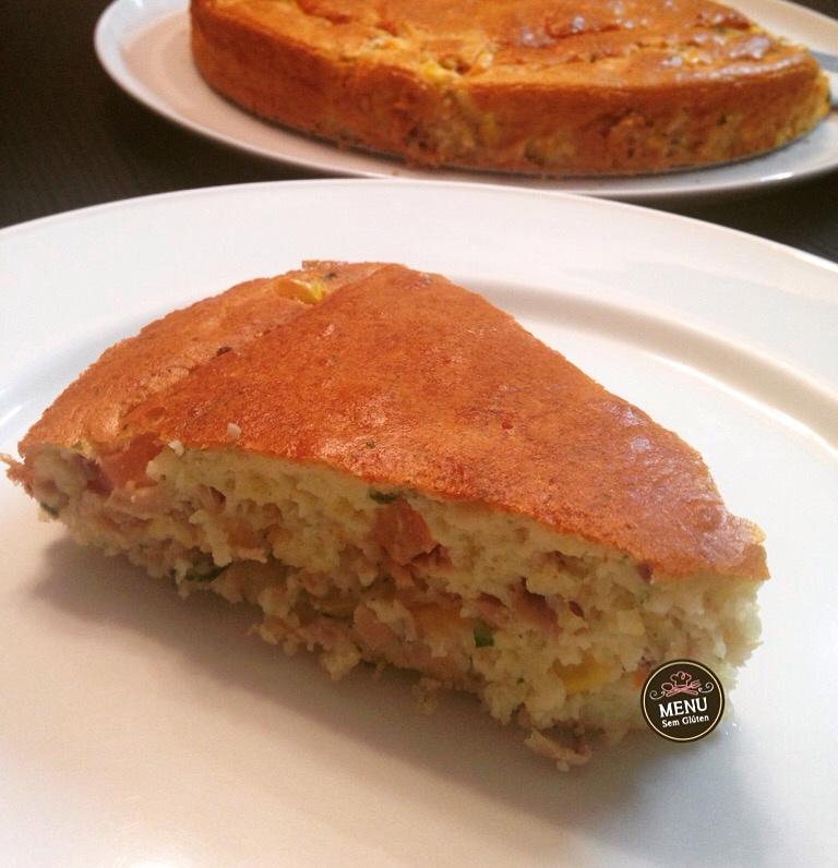 torta com massa de arroz sem glúten