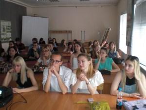 Будущие архитекторы Волгограда слушают о Менякине