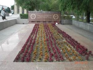 Братская могила на площади Ленина Волгограда. Архитектор Менякин