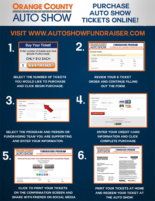 auto show fundraiser instructions
