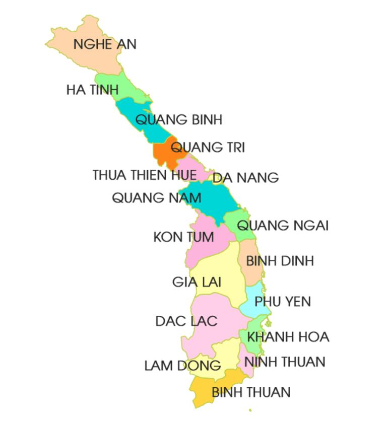 Các tỉnh miền trung Việt Nam