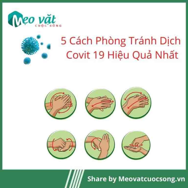 Phòng tránh Covit 19 bằng rửa tay