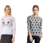 gray cat sweatshirts feature