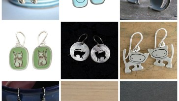 handmade sterling silver earrings cat lovers feature