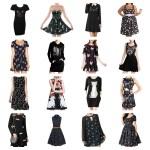 little black cat dresses feature
