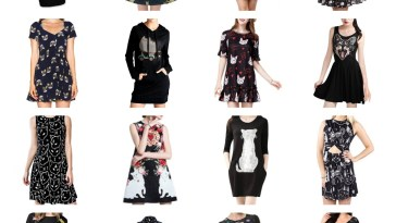little black cat dresses feature