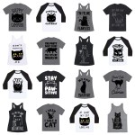 black cat tshirts feature