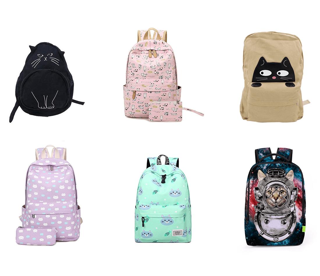 438840e0d Kitty Cat Canvas Backpack- Fenix Toulouse Handball