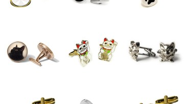 cat cufflinks feature