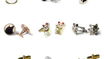 cat cufflinks feature