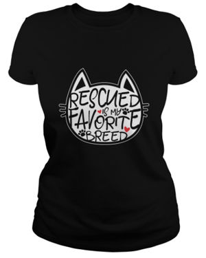 rescue cat tshirt tank top women