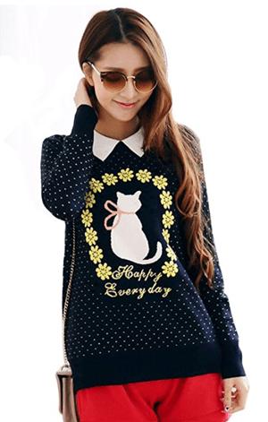 cat sweater womens
