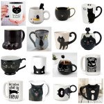 black cat mugs feature