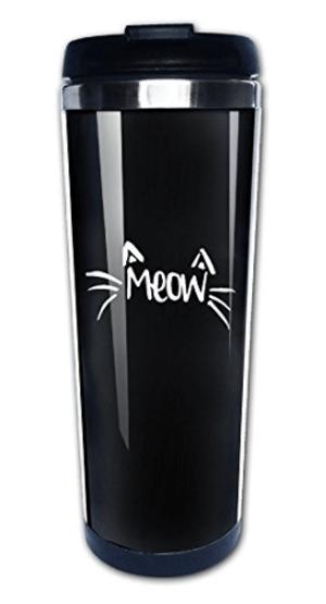 cat travel mug cup