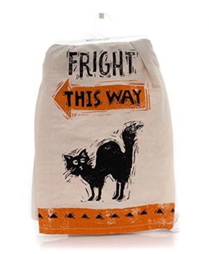 cat halloween dish towels