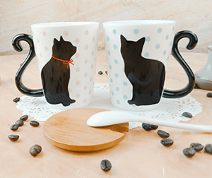 set cat mugs couples