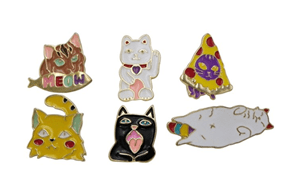 Marvelous Rosemarie Collections Cute Cats Trading Pins. Enamel Cat Pins