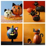 halloween cat pumpkins jack-o-lanterns feature
