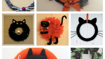 diy halloween cat wreaths feature