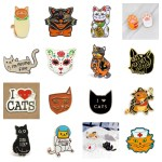 enamel cat pins feature