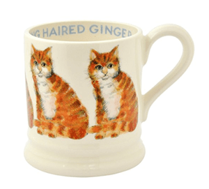 mugs ginger orange cats