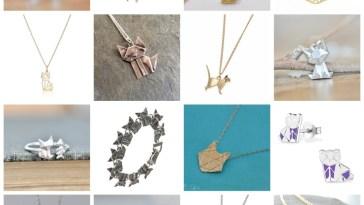 origami cat jewelry feature