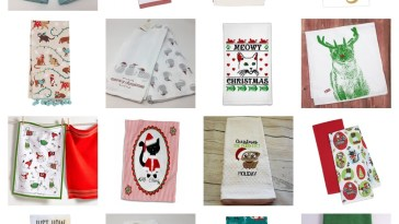 cat christmas kitchen towels feature