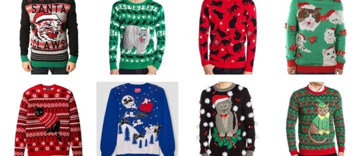 cat christmas sweater men feature