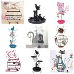 cat jewelry holder stand feature