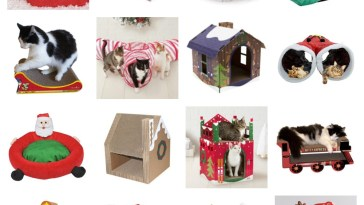 christmas cat houses scratchers tunnels beds caves feature