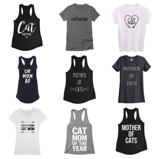 cat mom tshirts mothers day feature