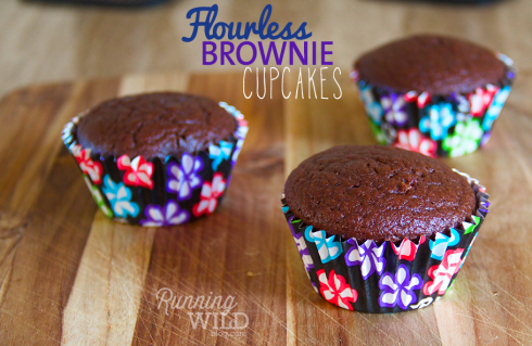 Flourless Brownie Cupcakes