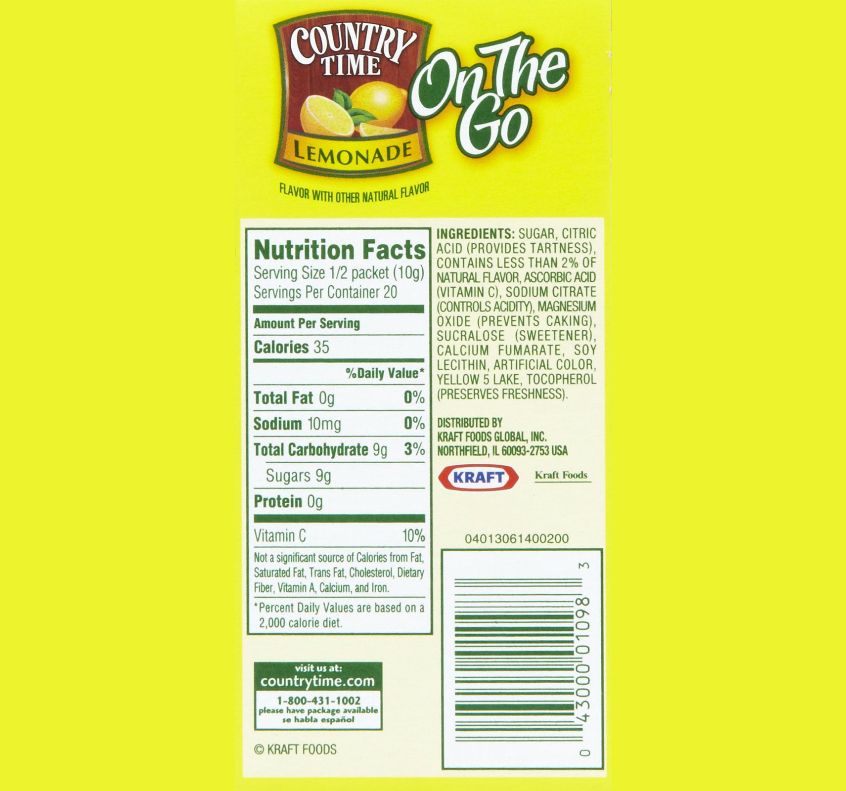 Country Time Lemonade Ingredients Label Pensandpieces