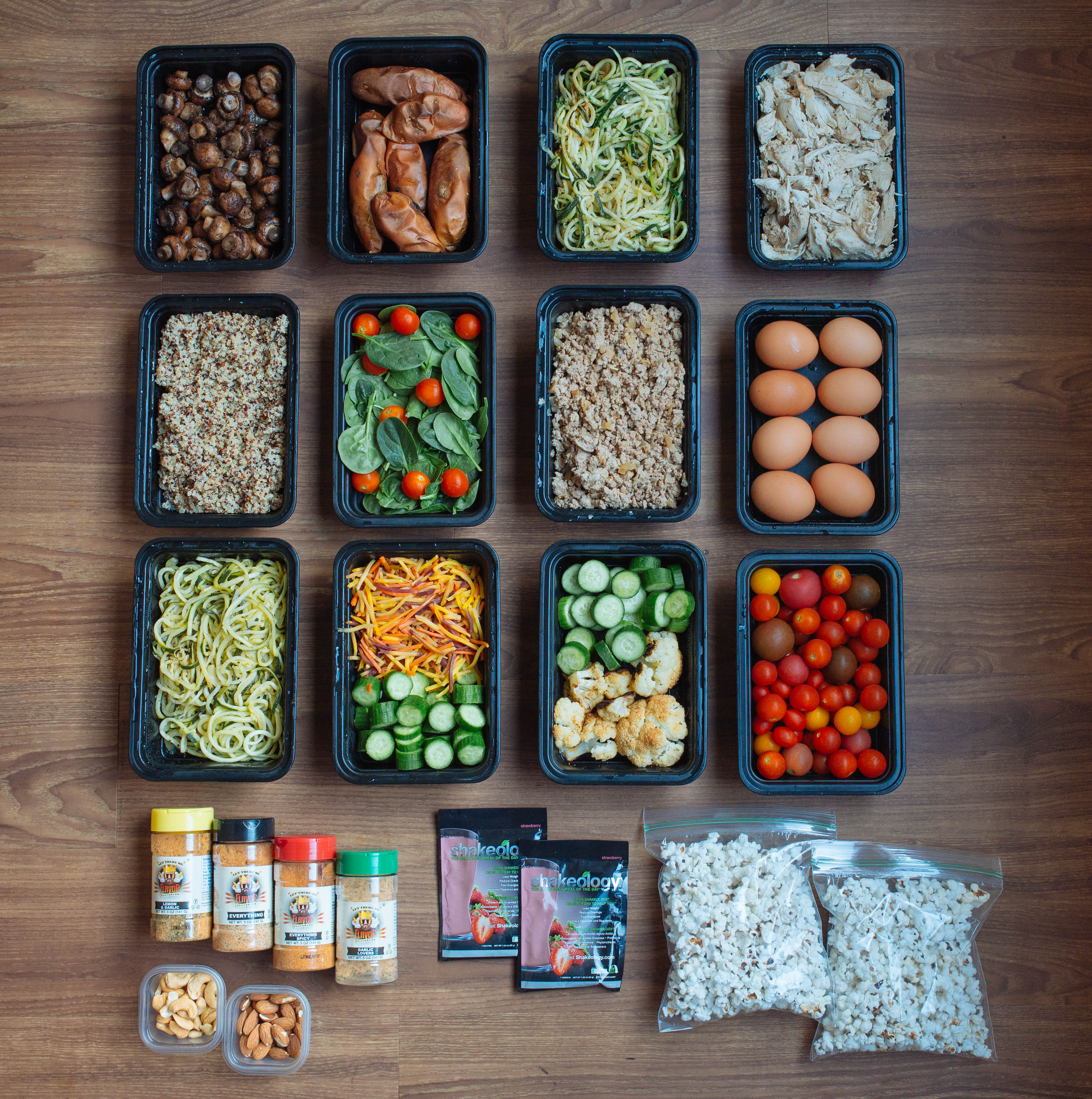 Buffet Style Meal Prep Ground Turkey Zoodles Popcorn More Meowmeix