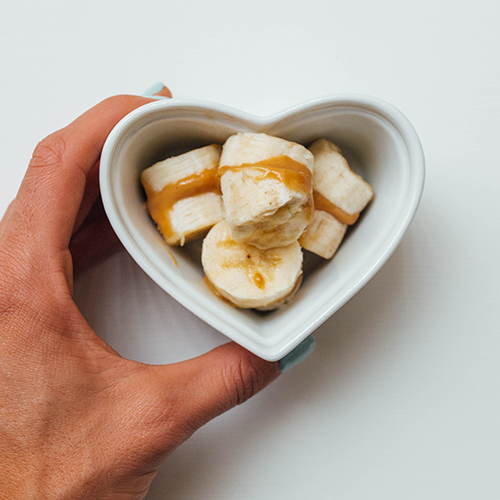 Healthy snack ideas - peanut butter banana
