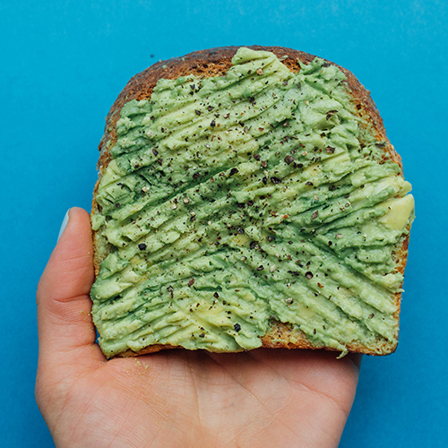 Healthy snack ideas - Ezekiel toast