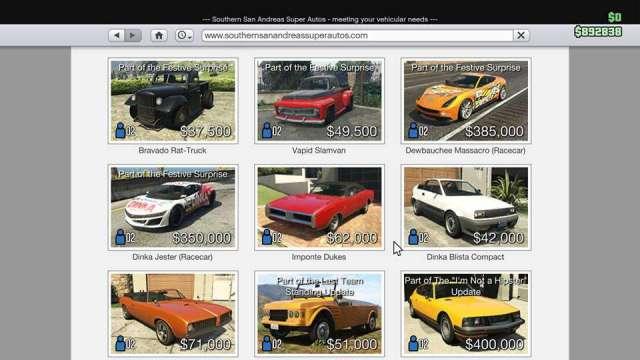 GTA Online New Cars