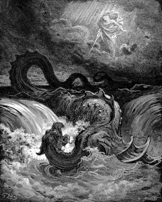 The Destruction Of Leviathan - Gustave Dore - 1865.