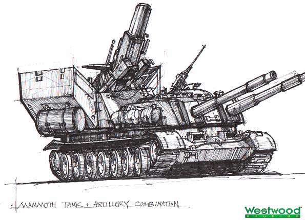 """Нечестивый клон САУ и танка """"Апокалипсис"""". Ума не приложим как бы Westwood балансировали игру при наличии такого чудовища."""