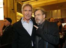 """Actors Ford and Hamill arrive at the premiere of """"Star Wars: The Force Awakens"""" in Hollywood"""
