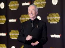 """Actor Anthony Daniels arrives at the premiere of """"Star Wars: The Force Awakens"""" in Hollywood"""