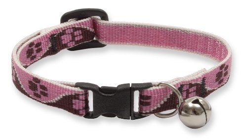 """Premium Safety Collar - Tickled Pink, 8-12"""" with bell"""