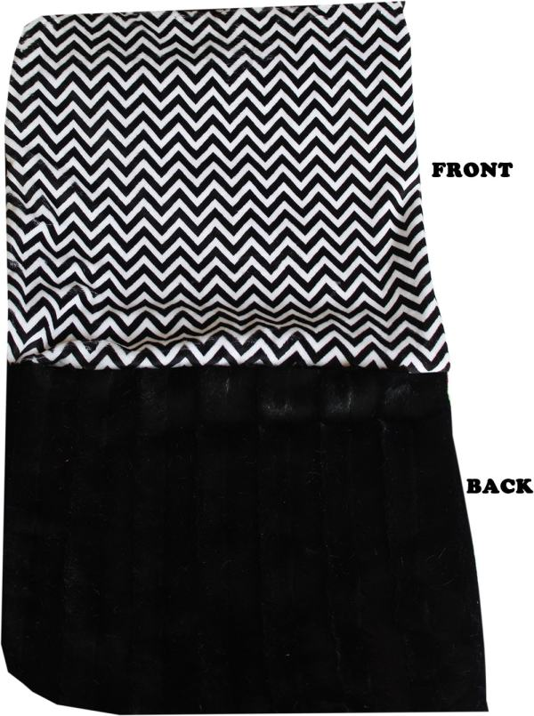 Plush Itty Bitty Baby Blanket Black Chevron