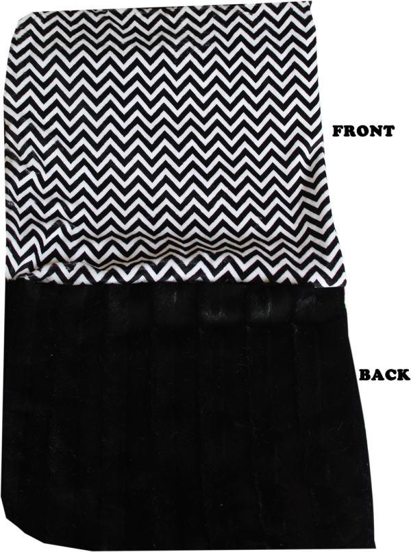 Plush Big Baby Blanket Black Chevron