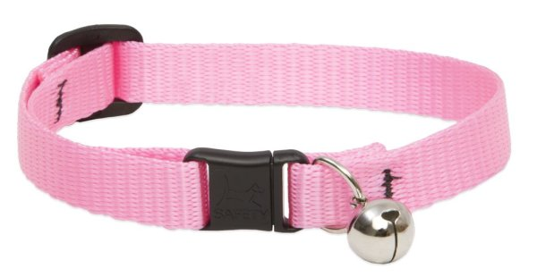 """Premium Safety Collar - Pink, 8-12"""" with bell"""